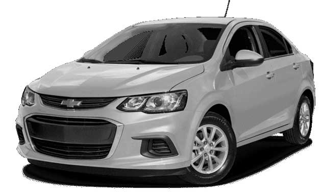 Promotion location de voiture à l'aéroport Tunis Carthage (TUN) et en Tunisie: Chevrolet Sonic  BERLINE MANUELLE à.p de 15.2 €/Jr