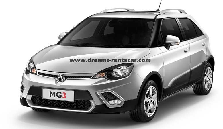 Promotion location de voiture à l'aéroport Tunis Carthage (TUN) et en Tunisie: Mg 3 confort CITADINE MANUELLE à.p de 15.0 €/Jr