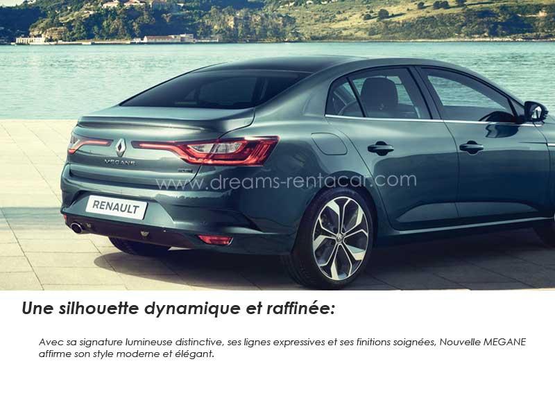 location de RENAULT MEGANE SEDAN 1.2 L TCE  en Tunisie