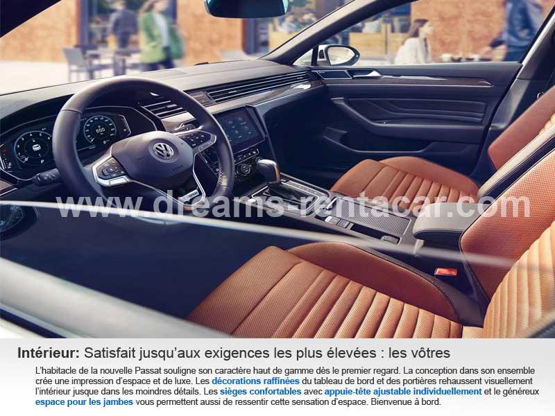 Promotion 03: Location VOLKSWAGEN PASSAT CONFORT DSG BVA Boite AUTOMATIQUE (BERLINE ROUTIERE) en Tunisie